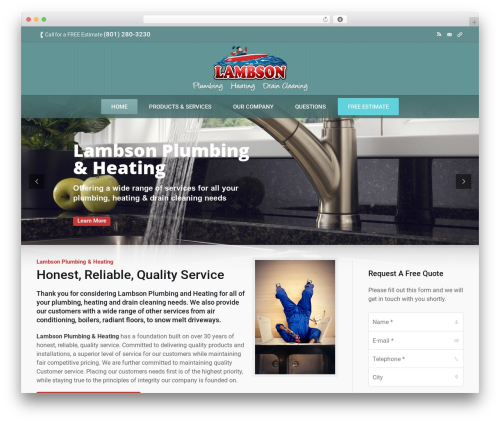 The7 best WordPress theme - lambsonplumbing.com