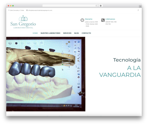 WordPress template Dental Care - laboratoriodentalsangregorio.com
