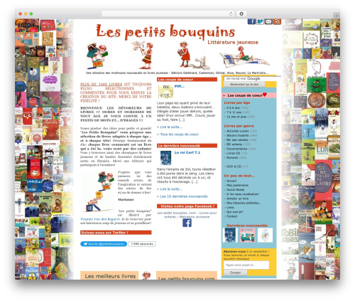 WordPress theme WordPress Default Fr - lespetitsbouquins.com