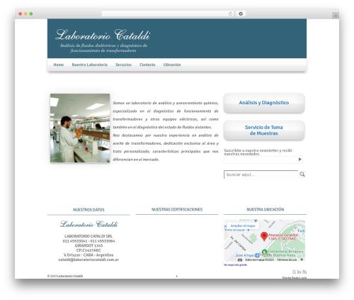 WordPress website template Responsive - laboratoriocataldi.com.ar