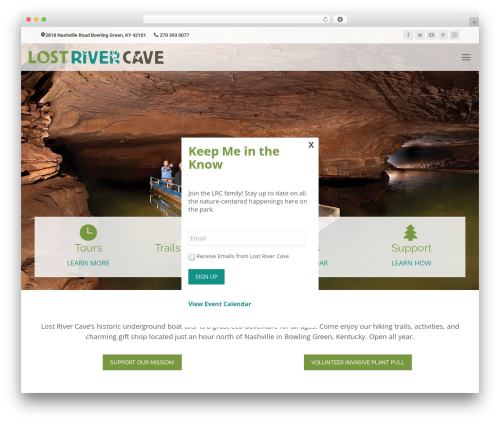 WP theme The7 - lostrivercave.org