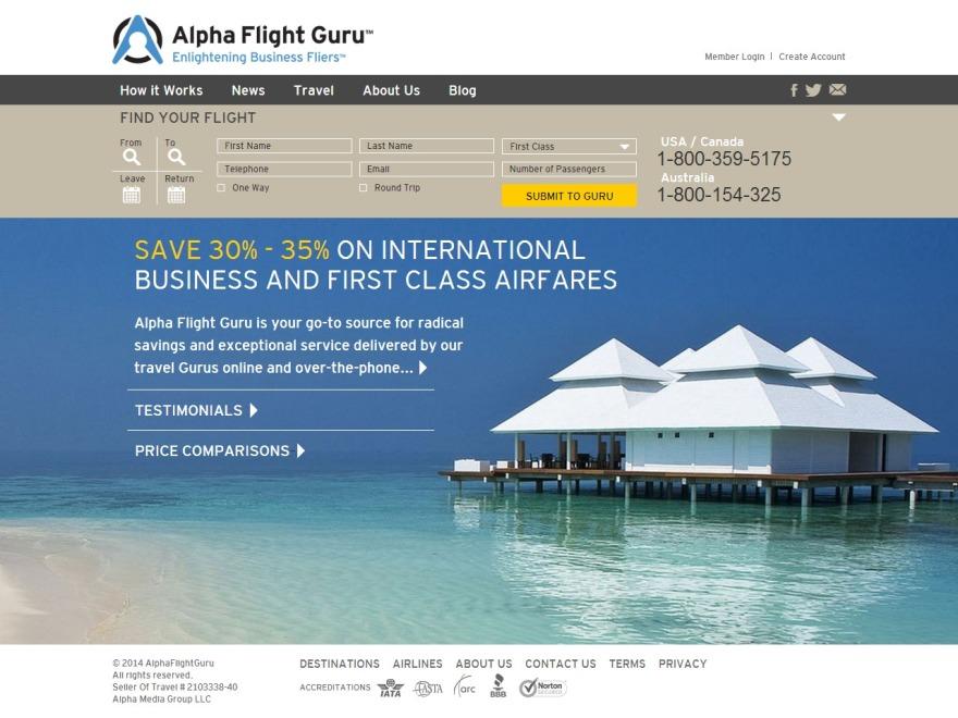 AlphaFlightGuru template WordPress