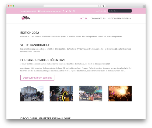 Best WordPress template Andenne Child - leswallonie.be