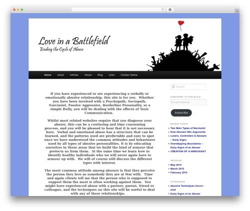 Child Theme top WordPress theme - loveinabattlefield.com