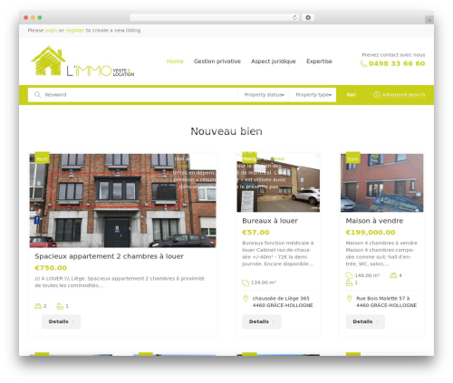 CozyHouse WordPress page template - limmo.be