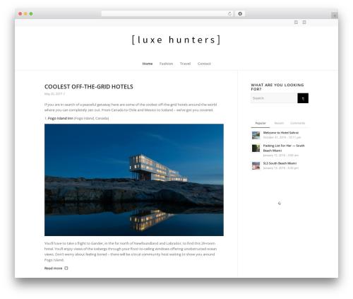 Enfold WordPress blog template - luxehunters.ca