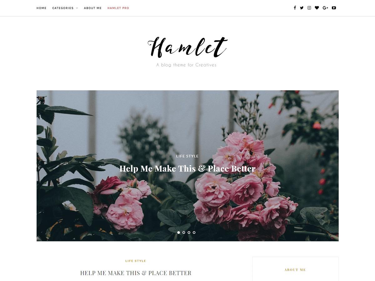 Hamlet Lite WordPress blog theme