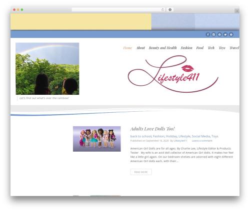 Longevity free website theme - lifestyle411.net