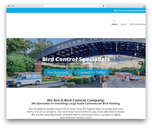 Sanigo WordPress theme - landmarkbirdcontrol.com