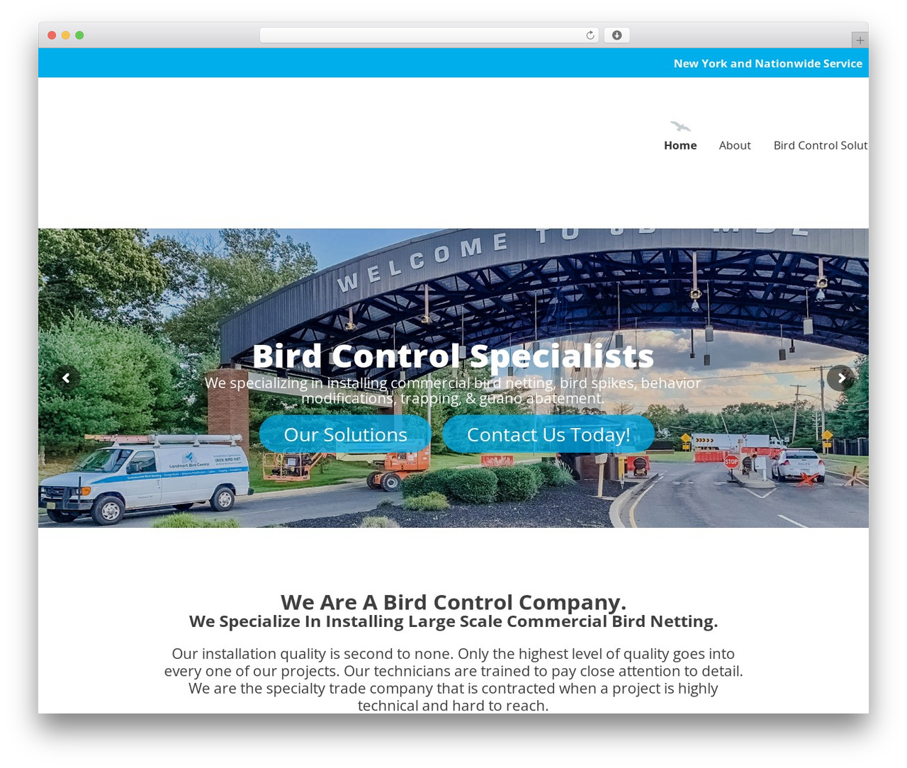 Sanigo WordPress theme - landmarkbirdcontrol.com