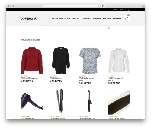 WordPress template The Retailer - lovehair.dk