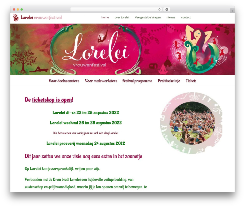 WordPress megamenu-pro plugin - loreleifestival.nl