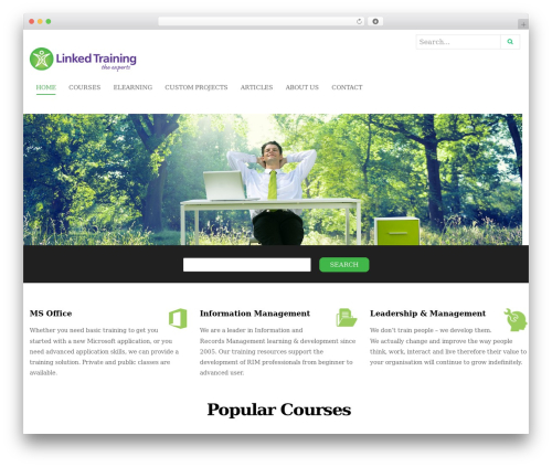 WP template Edubase - linkedtraining.com.au