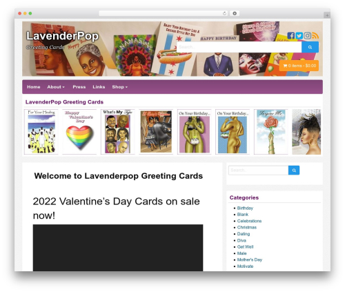 Best WordPress theme Poster - lavenderpop.com