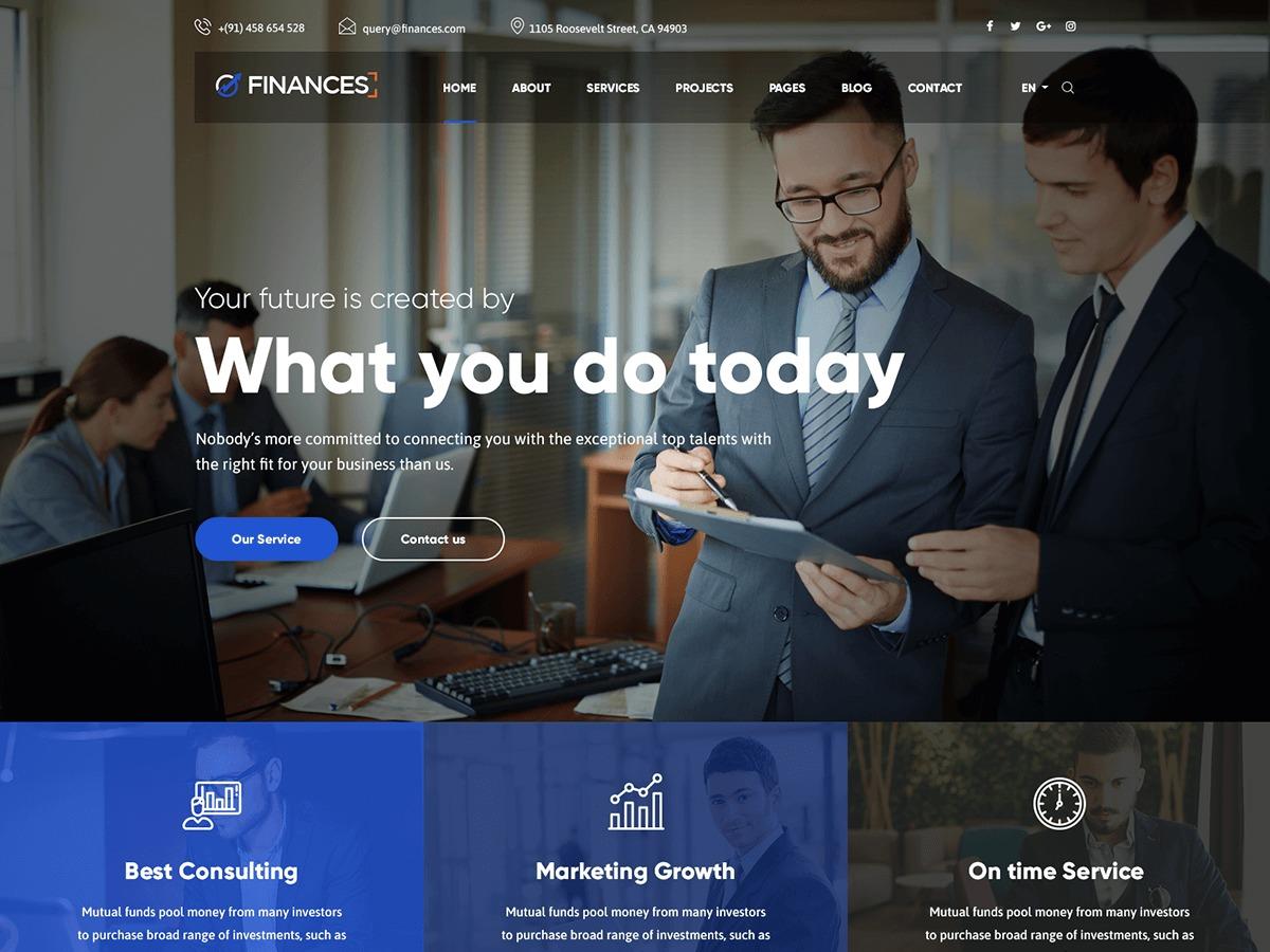 bizipress WordPress page template