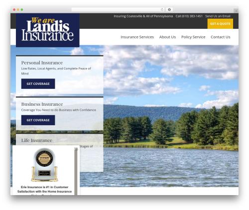 BrightFire Stellar WordPress theme - landisinsurance.com