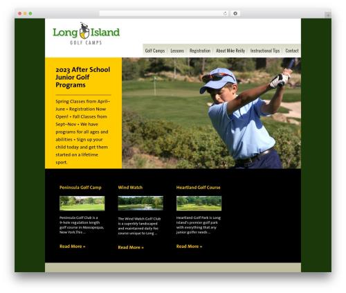 Executive Pro WordPress theme design - longislandgolfcamps.com