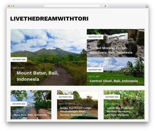Karta free WordPress theme - livethedreamwithtori.com