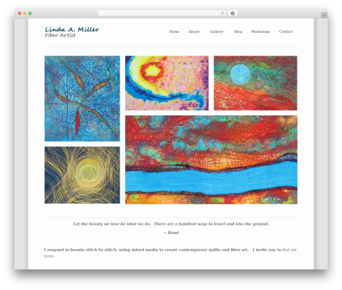 klasik WordPress template - lindaamiller.com