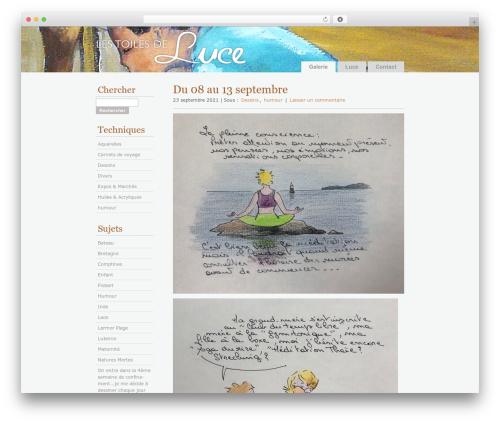 Les Toiles de Luce top WordPress theme - lestoilesdeluce.fr