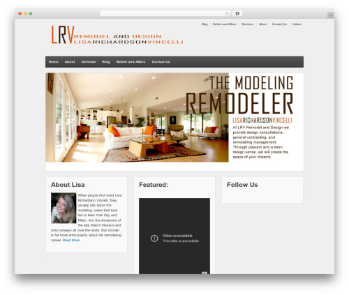 Responsive theme WordPress - lrvremodelanddesign.com