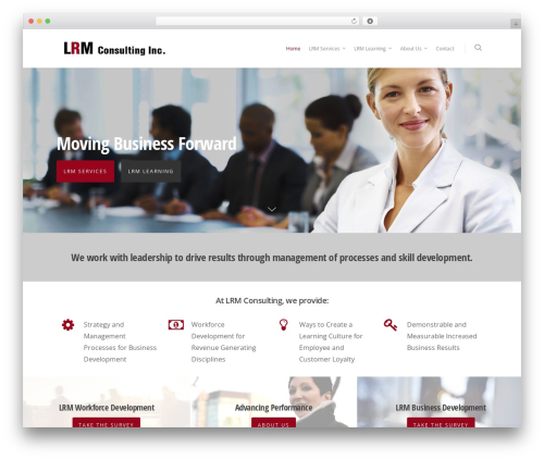 Salient theme WordPress - lrmconsulting.com
