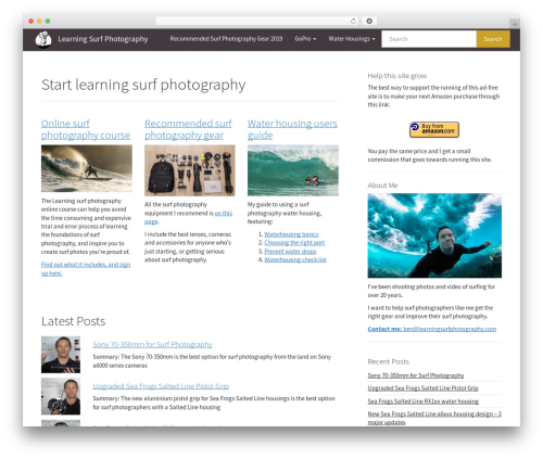 Simple Bootstrap template WordPress free - learningsurfphotography.com
