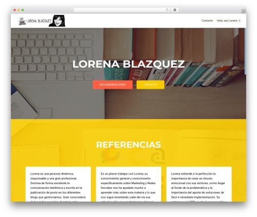 Theme WordPress OnePirate - lorenablazquez.com