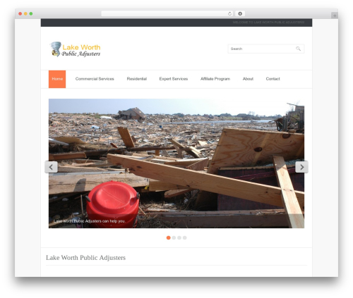 theme1850 WordPress theme design - lakeworthpublicadjusters.com