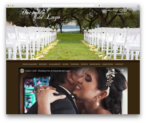 Thesis best wedding WordPress theme - laketravisevents.com