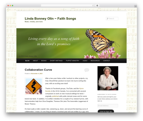 Twenty Eleven best free WordPress theme - lindabonneyolin.com