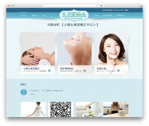 WordPress website template theme1804 - linda1000.com