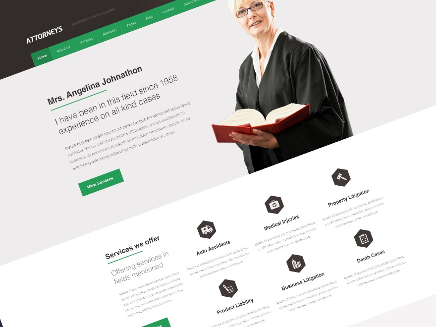 Attorney WordPress template for business