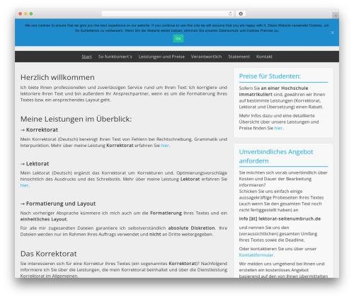 BlueGray best free WordPress theme - lektorat-seitenumbruch.de