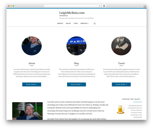 Customizr free WordPress theme - leighmcbain.com/WP