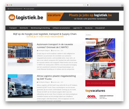 Envince WordPress theme - logistiek.be