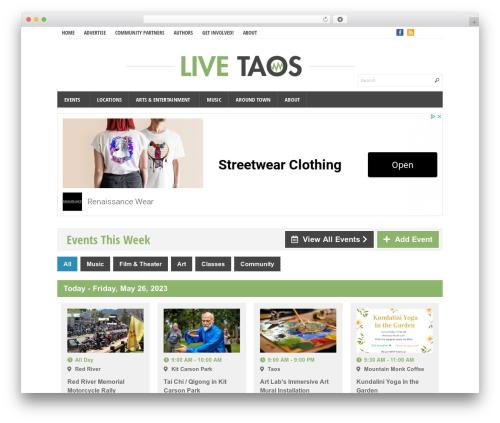 Eris premium WordPress theme - livetaos.com