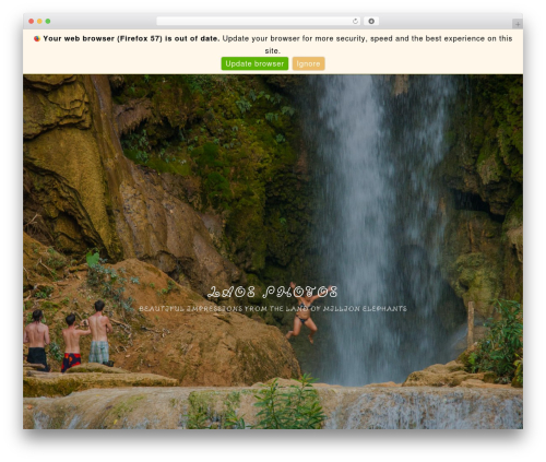 Imagely Simpicity theme WordPress - laosphotos.com