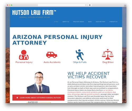 Law Office company WordPress theme - lawhutson.com