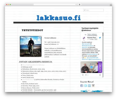 Paper WordPress website template - lakkasuo.fi