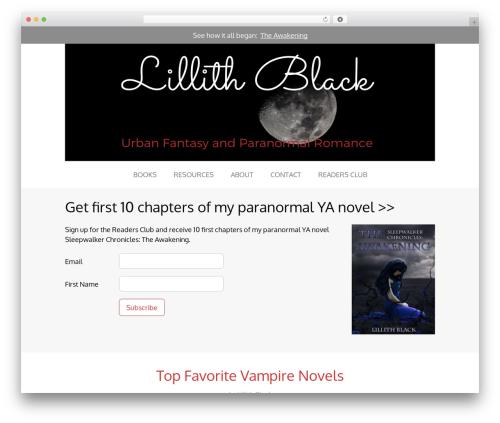 Tribe premium WordPress theme - lillithblack.com