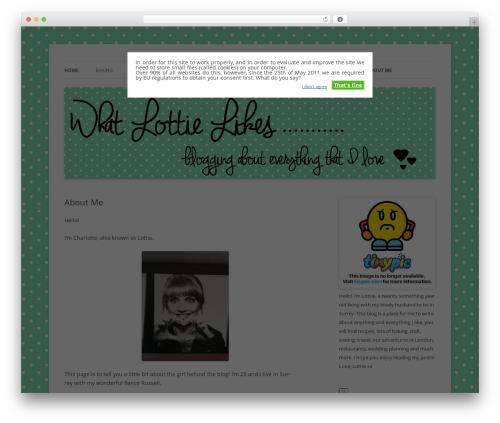 Twenty Twelve WordPress blog template - lottiesbakes.co.uk
