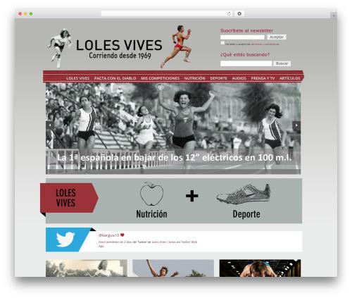 WordPress template Revolution - lolesvives.com