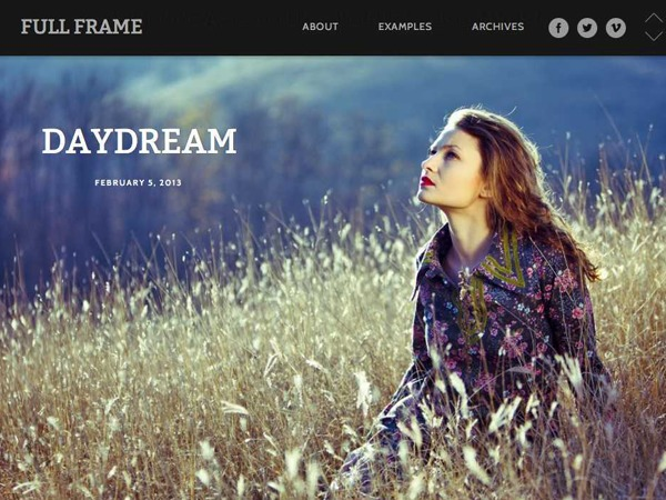 WordPress theme Full Frame