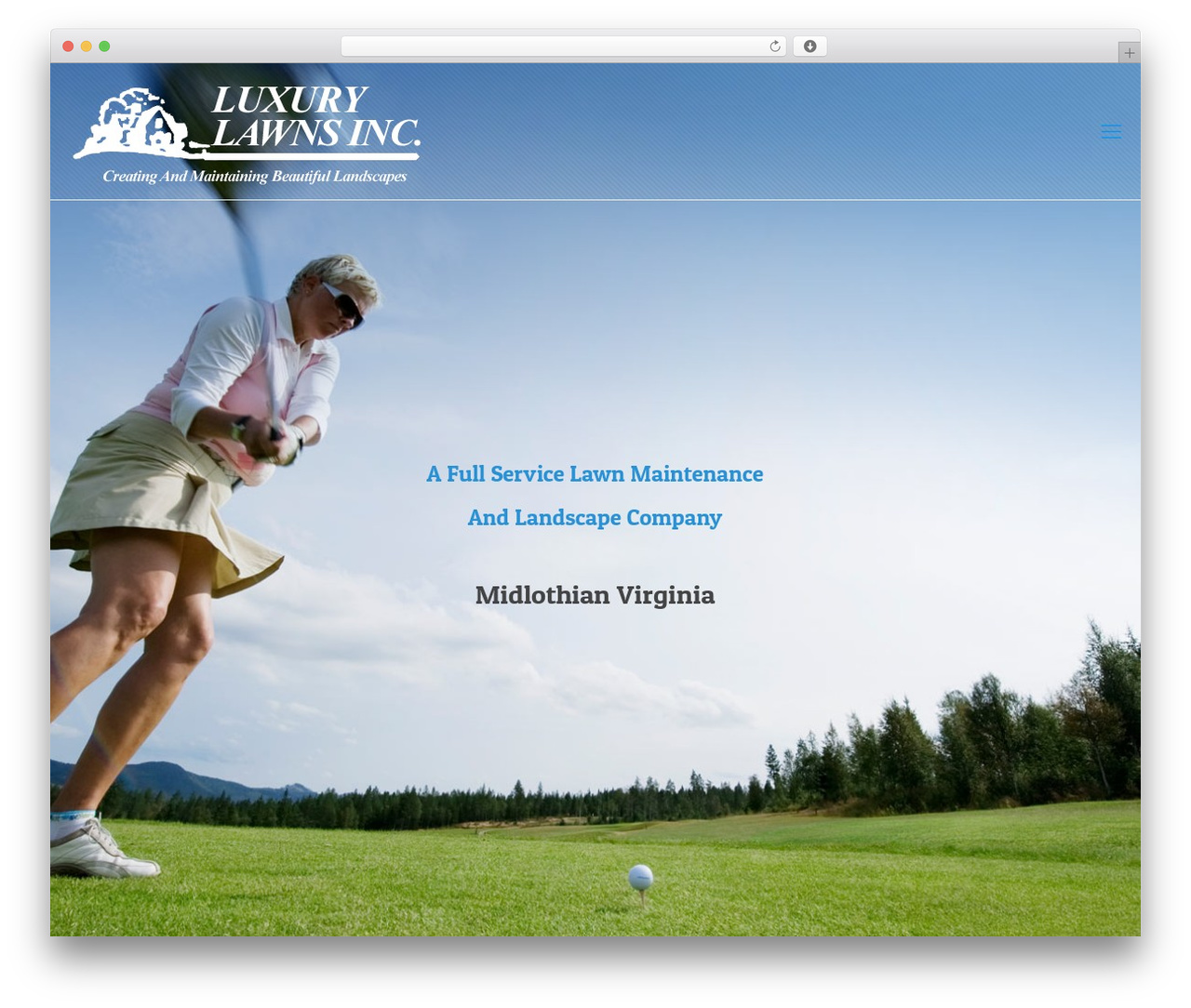 WP theme Betheme - luxurylawns.biz