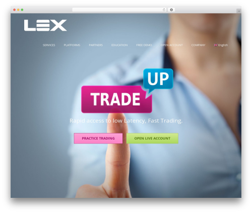 Avada WordPress theme - lexfx.com