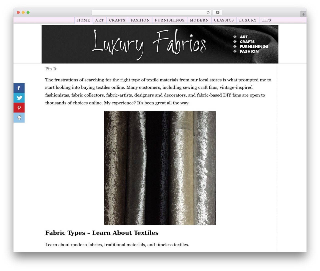 Best WordPress template ClickBump - luxury-fabric-stores-online.com