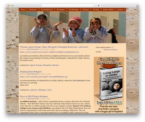 Catalyst WordPress website template - livinglargeinlimbo.com