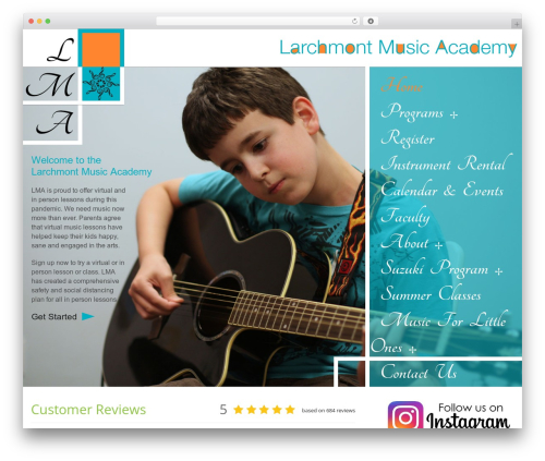 LMA best WordPress theme - larchmontmusicacademy.com