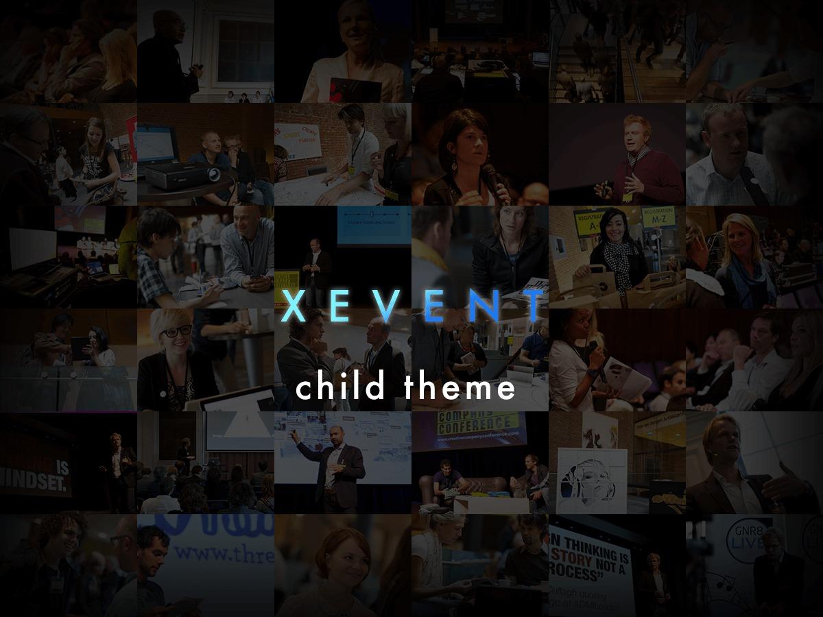 XEvent Child Theme WordPress template